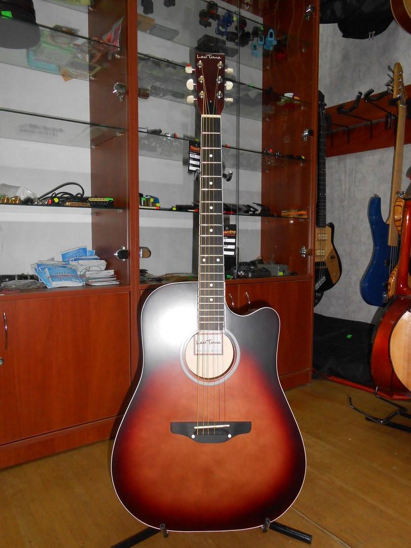 ( 01/107 ) Новая акустическая Гитара Львовской музыкальной фабрики Leo
