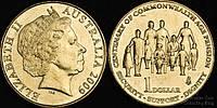 Доллар Австралия 2009 г.  $1 UNCIRCULATED