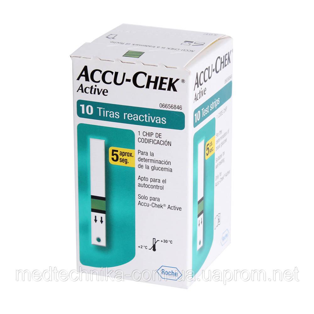 Тест-полоски Accu-Chek Active, 10 шт. АКЦИЯ