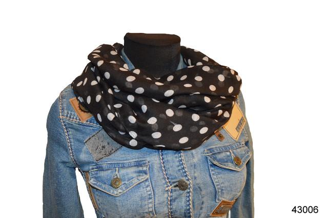 Весенний шарф снуд Алира черный 1