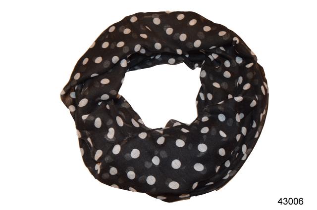 Весенний шарф снуд Алира черный 2