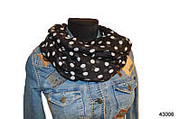 Весенний шарф снуд Алира черный, фото 1
