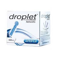 Ланцет-скарификатор, медицинский стерильный Droplet 28G, 100 шт.