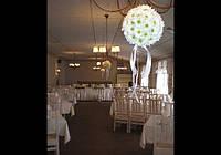 Свадебное оформление цветами, свадебные композиции из цветов, оформление свадьбы цветами, Киев