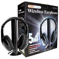 Беспроводные наушники с Микрофоном 5 в 1 FM радио + радио няня