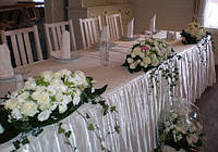 Оформление свадебного стола живыми цветами, Киев