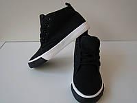Детские демисезонные ботинки Weide черные размеры 30-36.