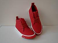 Детские демисезонные ботинки Weide красные размеры 30-36.