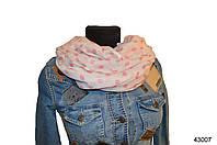Весенний шарф снуд Алира розовый, фото 1