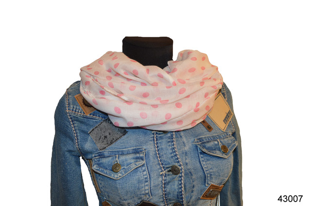 Весенний шарф снуд Алира розовый 1