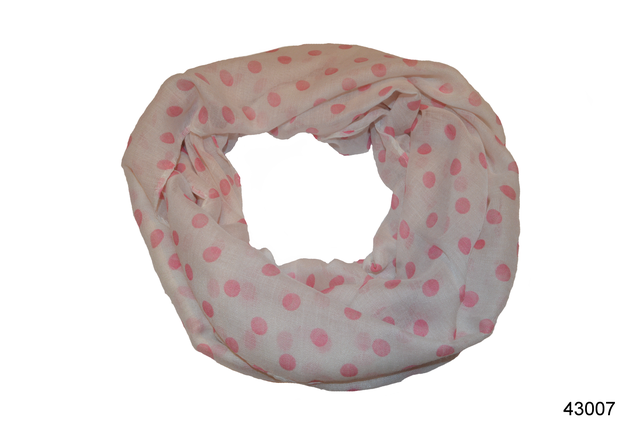 Весенний шарф снуд Алира розовый 2