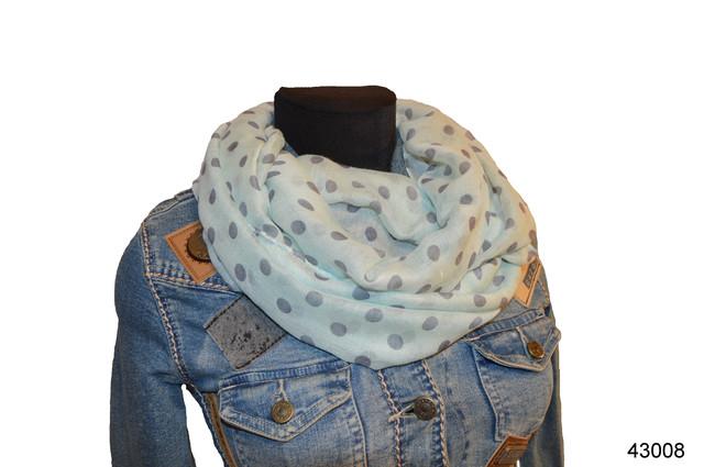 Весенний шарф снуд Алира мятный 1