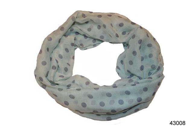 Весенний шарф снуд Алира мятный 2