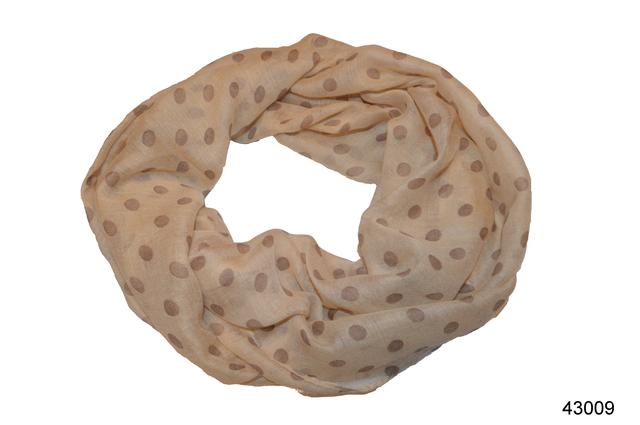 Весенний шарф снуд Алира бежевый 2