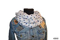 Весенний шарф снуд Алира голубой, фото 1