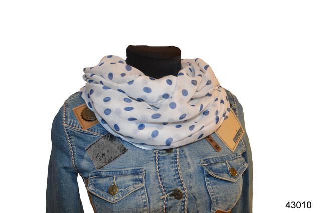 Весенний шарф снуд Алира голубой 1
