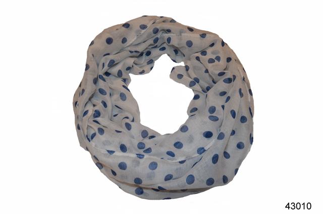 Весенний шарф снуд Алира голубой 2