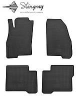 Коврики резиновые авто Fiat Linea  2007- Комплект из 4-х ковриков Черный в салон. Доставка по всей Украине. Оплата при получении