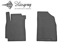 Коврики резиновые авто Geely Emgrand X7 2013- Комплект из 2-х ковриков Черный в салон. Доставка по всей Украине. Оплата при получении
