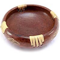 Блюдо круглое деревянное