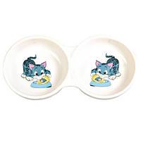 Trixie TX-4014 миска двойная для кошки 0,15л