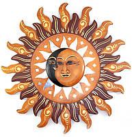 Зеркало настенное мозаичное Луна и солнце