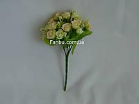 Искусственный букет розы флорибунда (цвет кремовый)