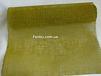 Мешковина натуральная флористическая ,оливкового цвета (лист 0.5* 0.5м)