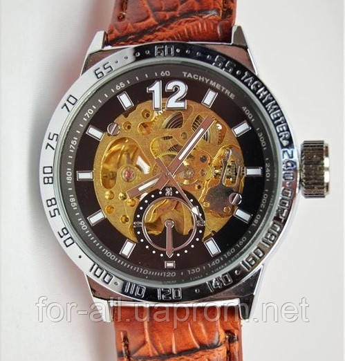 Мужские механические часы скелетон Слава С5225 купить от