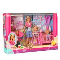 Кукольный набор Steffi с детьми Simba 5736350, фото 1