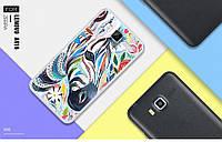 Чехол накладка силиконовая для Lenovo A916 с картинкой зебра живопись