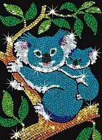 Детская мозаика из блесток Коала