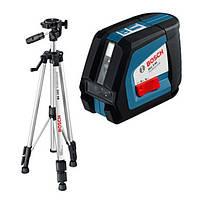 Нивелир лазерный GLL 2-50 + штатив BS150 (0601063105) диапазон с приемником до 50м, точность +/- 0,3мм/м.