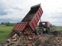 Бой кирпича, кирпичный бой с доставкой . Доставка строительного мусора Киев.