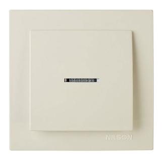 NILSON TOURAN Выключатель с подсветкой кремовый