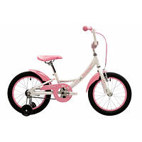 "Велосипед 16"" Pride Miaow белый/розовый 2018"