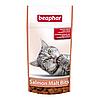 Подушечки Beaphar Salmon Malt Bits для выведения шерсти из желудка у кошек, 35 г