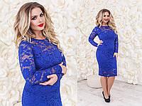 Платье женское гипюр батал № 2018 kux