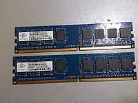 1GB, 2 по 512MB DDR2 PC-5300U 667MHz Nanya