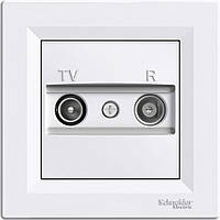 TV/R розетка проходная (8 dB) Asfora белый, EPH3300321