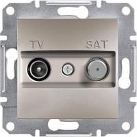 TV-SAT розетка концевая (1 dB) Asfora бронза, EPH3400469