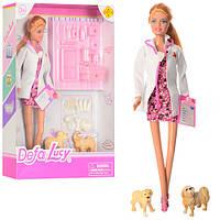 Кукла DEFA 8346A (36шт) доктор,29см, чемодан, инструменты, собачка 2шт, в кор-ке, 23-32,5-5см