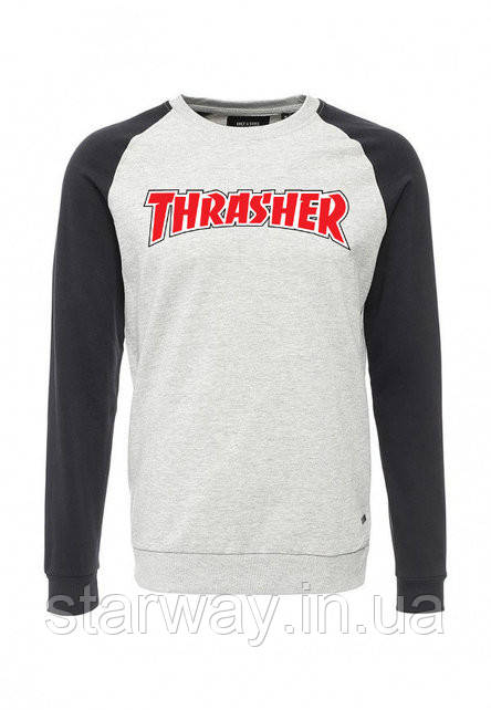 Свитшот с красным принтом Thrasher | Кофта