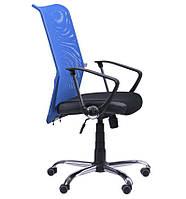 Кресло АЭРО НВ  сиденье Сетка черная, Неаполь N-20/спинка Сетка синяя