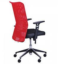 Кресло АЭРО Люкс сиденье Сетка черная, Неаполь N-20/спинка Сетка красная, фото 2