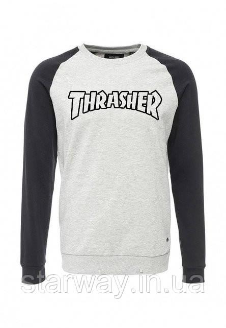 Свитшот | с чёрным принтом Thrasher | Кофта комбо