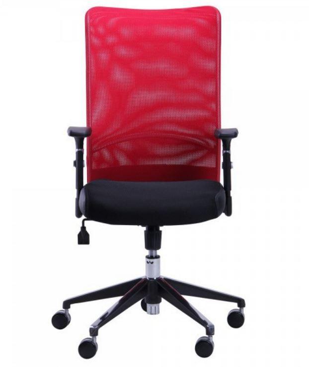 Кресло Аэро Люкс сиденье Сетка черная, Неаполь N-20/ спинка Сетка красная (фото 2)