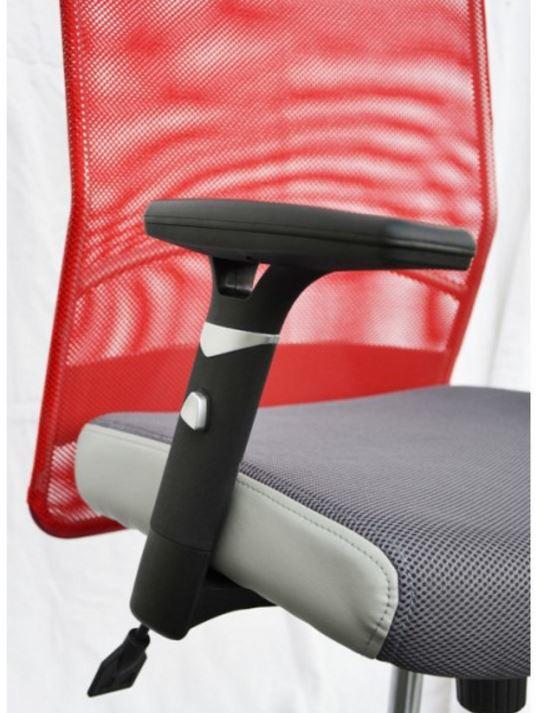 Кресло Аэро Люкс сиденье Сетка серая, Неаполь N-23/спинка Сетка красная (фото 5)