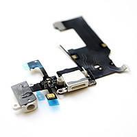 Шлейф для iPhone 5. с разъмом зарядки. коннектором наушников и микрофоном. белый