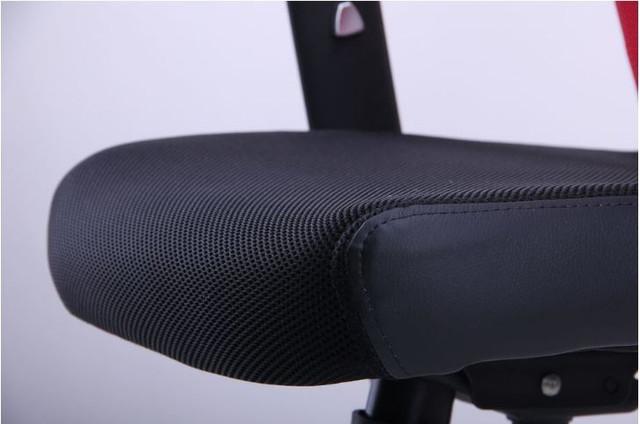 Кресло Аэро Люкс сиденье Сетка черная, Неаполь N-20/спинка Сетка красная (фото 6)